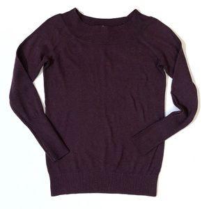 LOFT Sweaters - Ann Taylor LOFT boatneck plum wine sweater xs